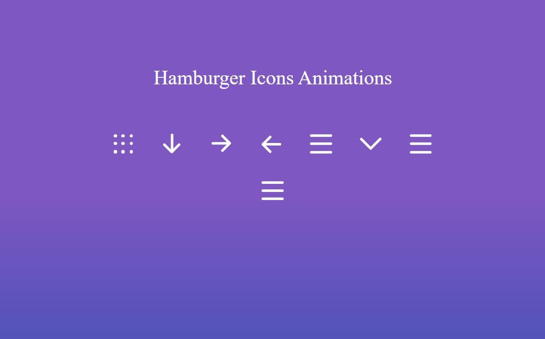 Hamburger Menu CSS Icon Animated
