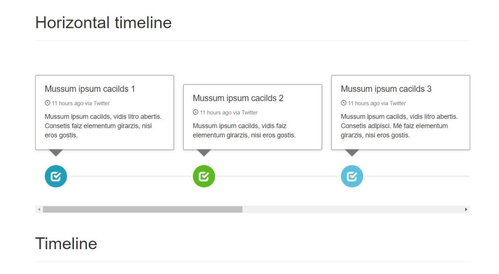 Horizontal & Vertical Bootstrap Timeline