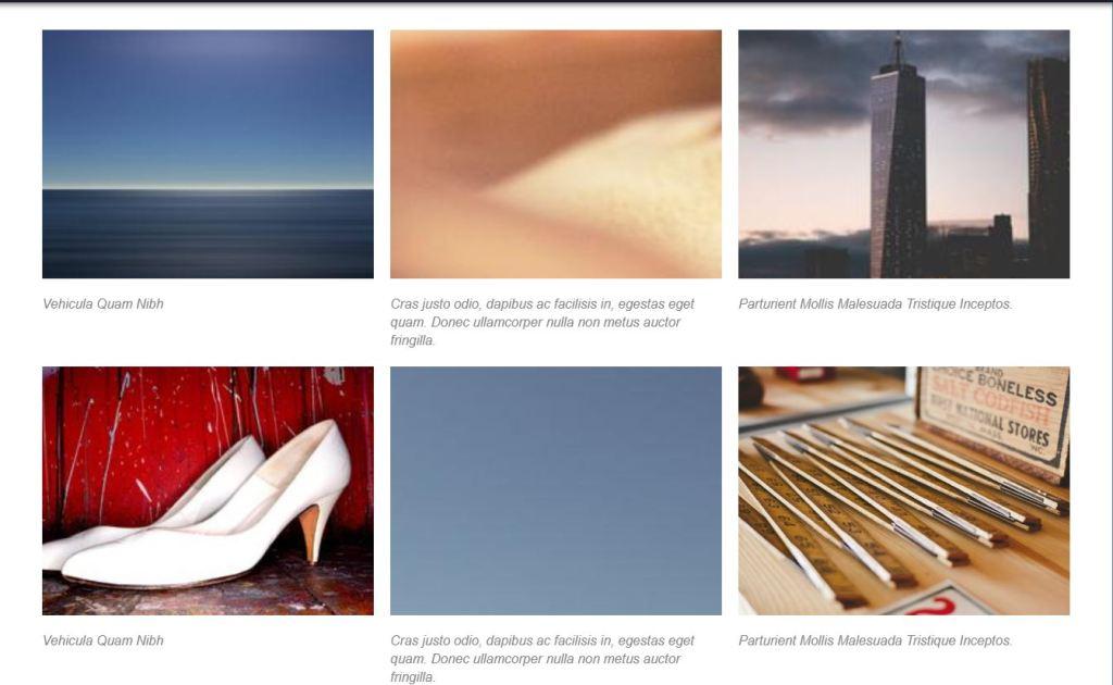 Horizontal Slider to Photo Grid CSS