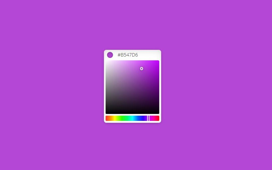 HTML CSS Color Code Picker with JavaScript