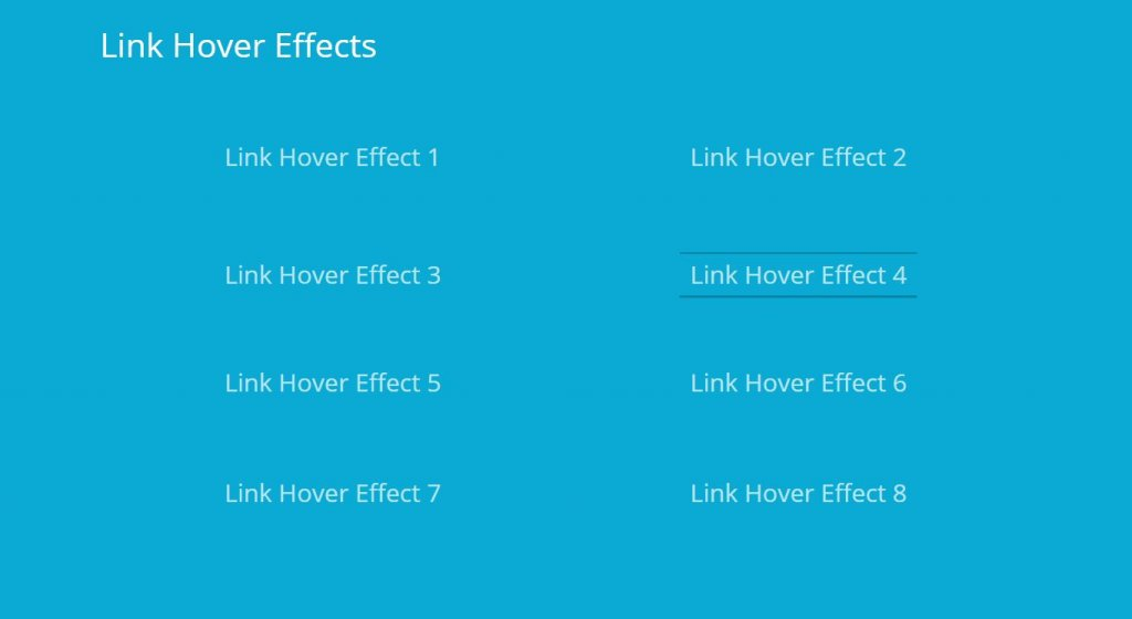 css link hover
