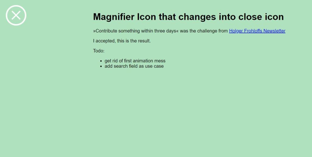 html close button magnifier
