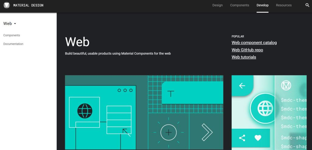 material design CSS framework Components Web