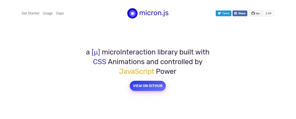 Micron CSS transition animation libraries