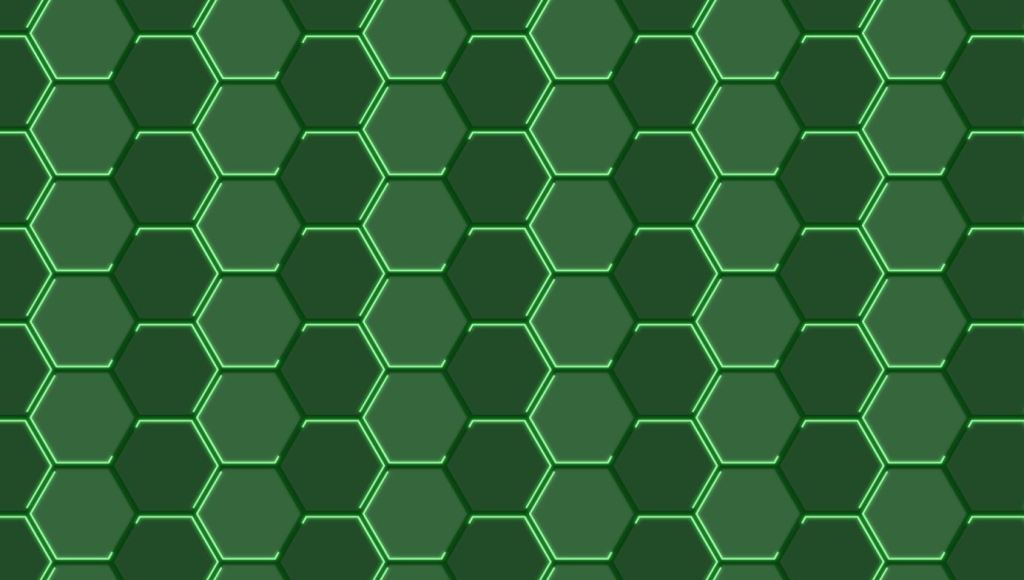 animated neon hexagons pattern
