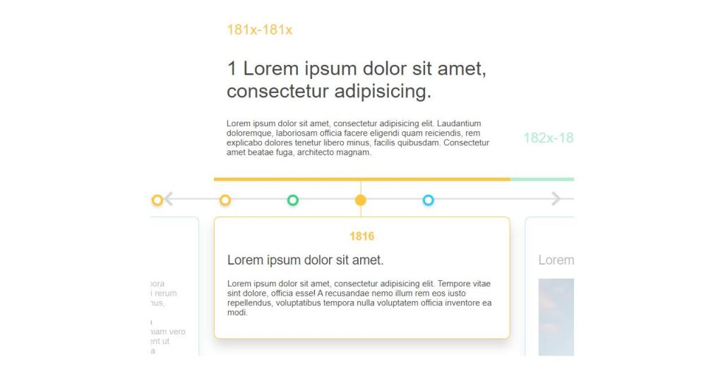 Nested & Color Coded Interactive Timeline