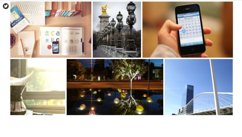 Pure CSS Flickr Responsive Image Gallery Grid Photo Layout
