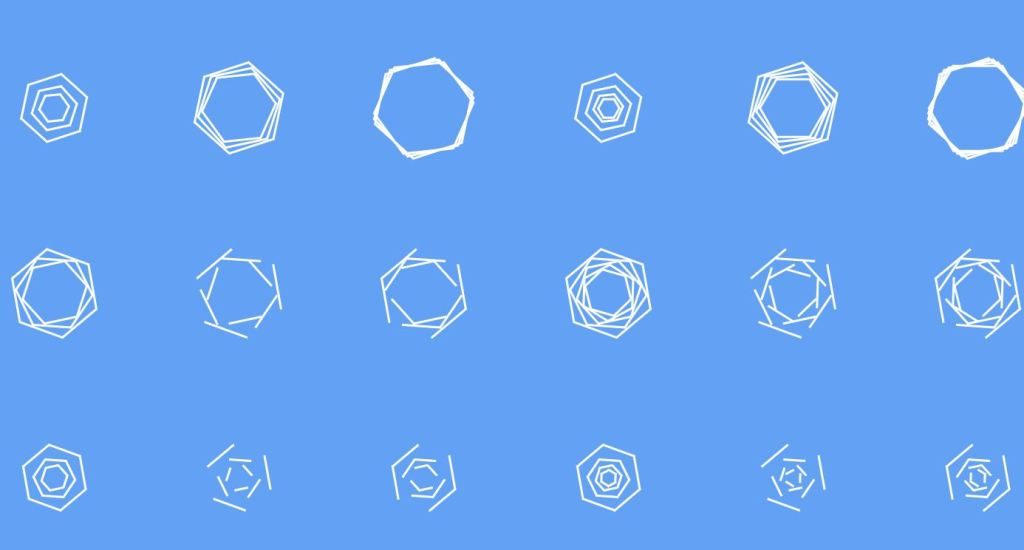 pure css hexagonal spinners