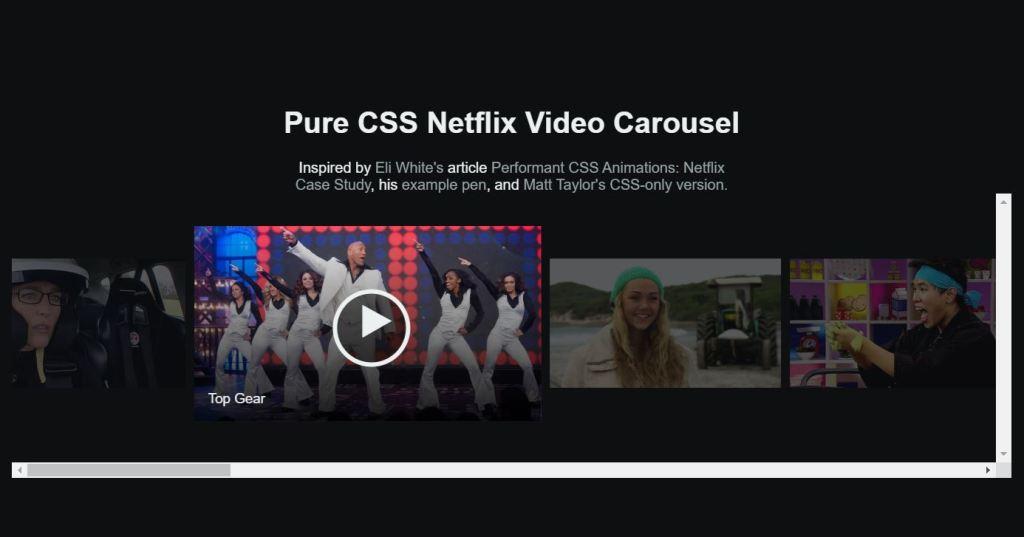 netflix video carousel