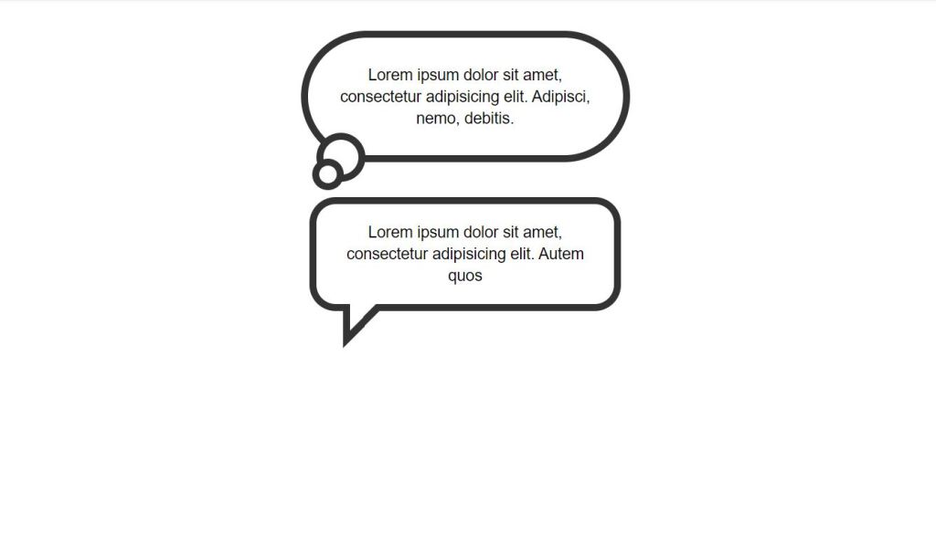 examples of responsive speech bubble generator with text html css