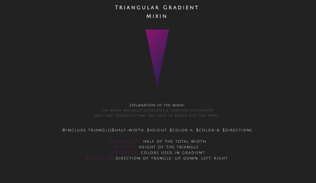 quick gradeint triangle