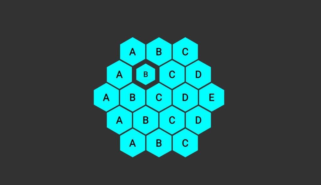 scss hexagonal