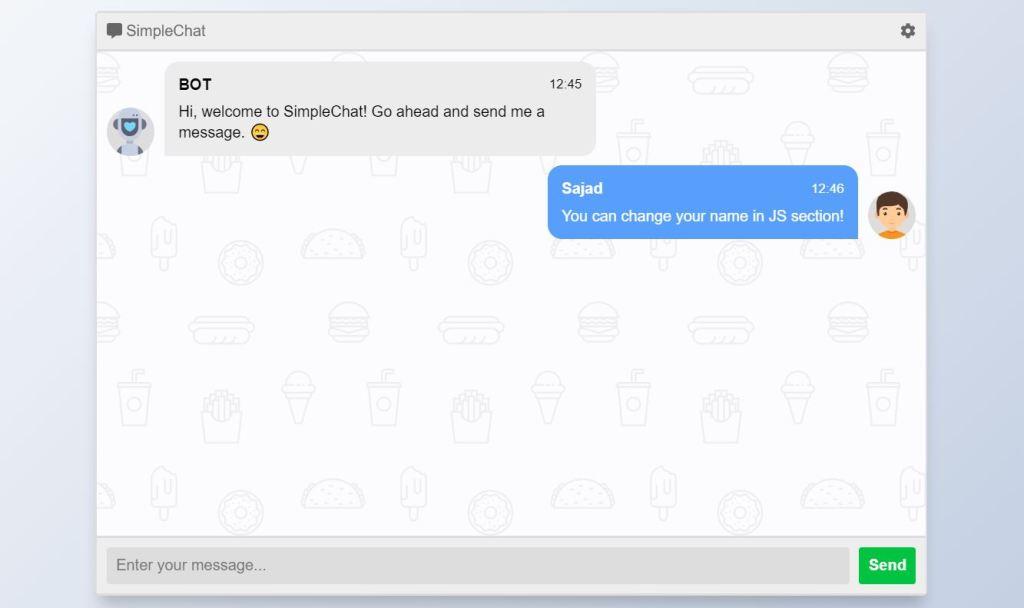 chat box CSS UI