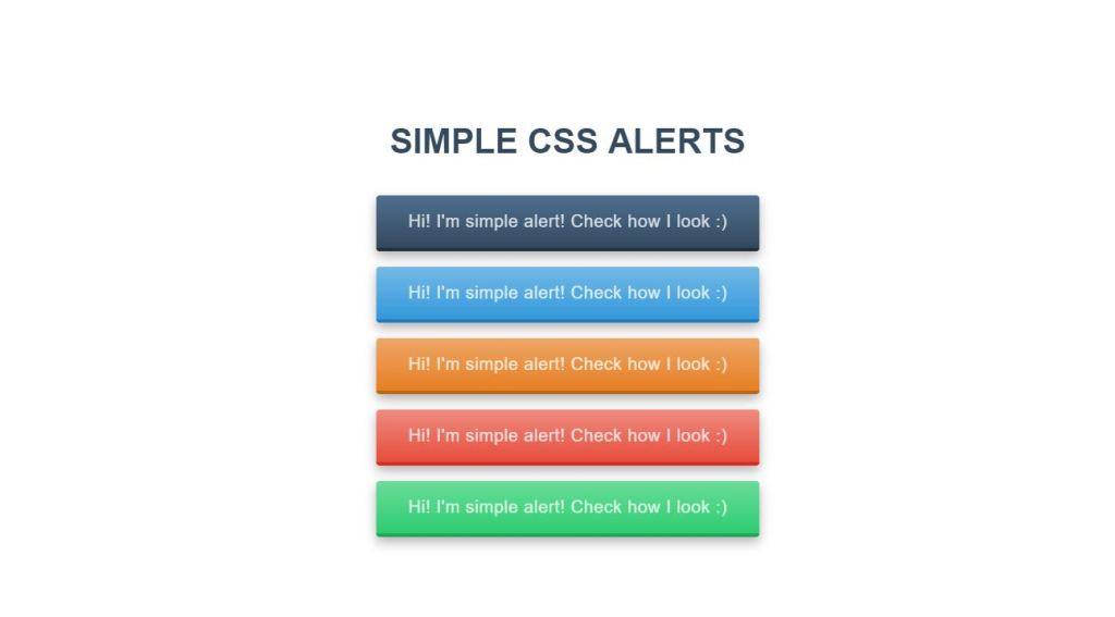 Simple CSS Alerts