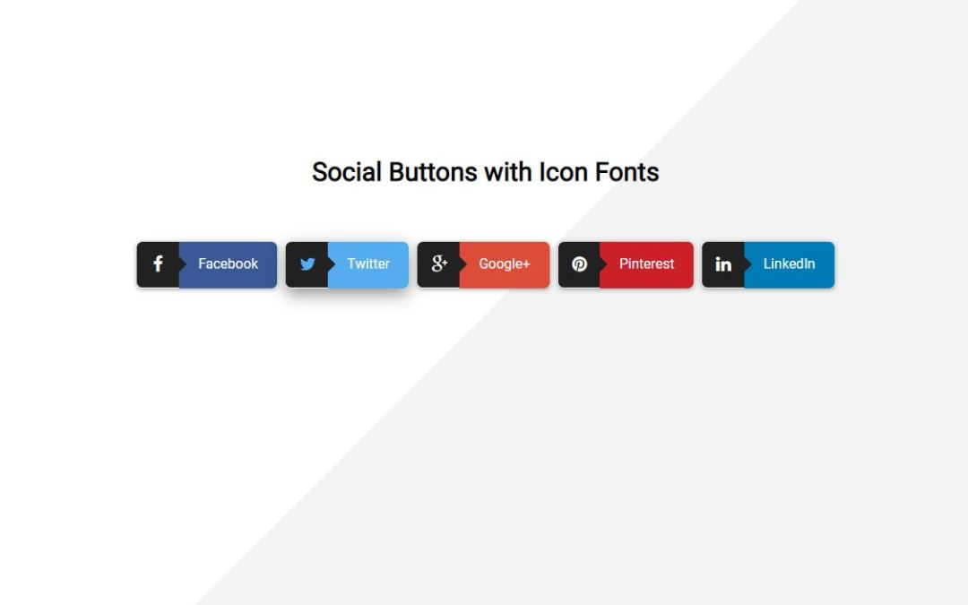 CSS Social Share Buttons Code Snippet