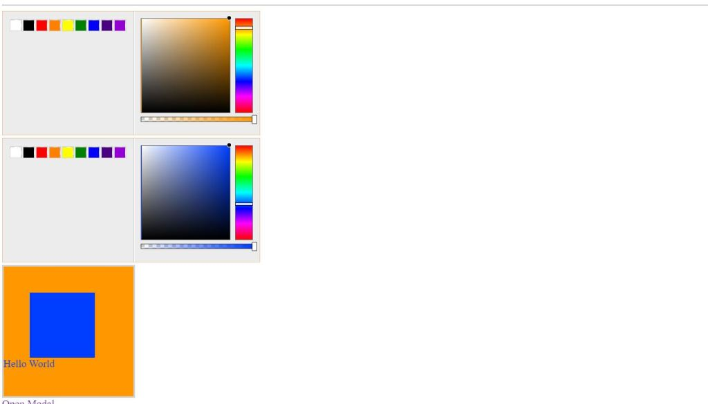 Using Spectrum Color Picker