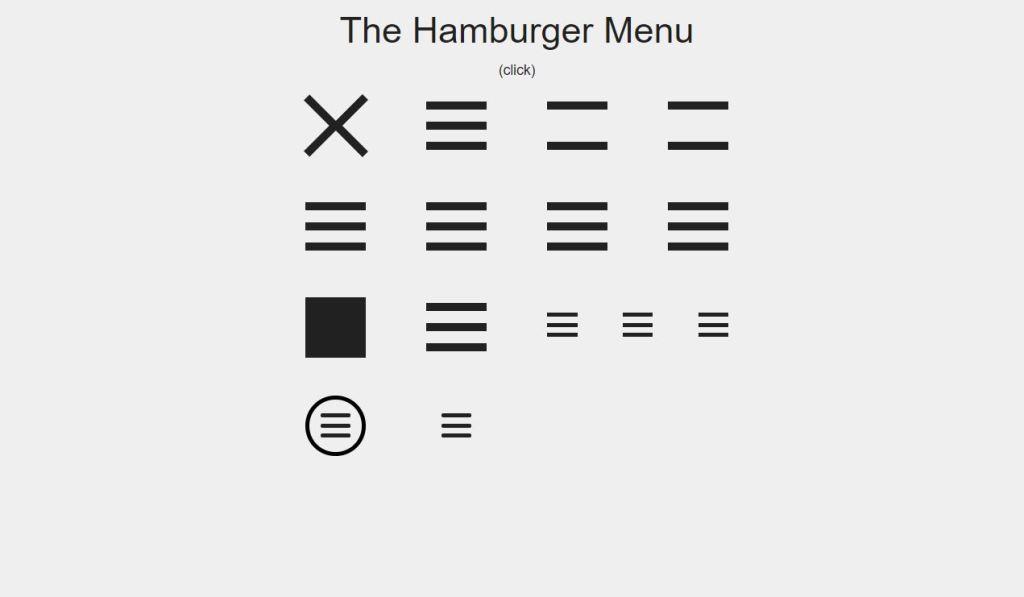 burger navigation