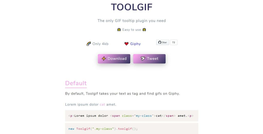 jQuery(JavaScript) Tooltip gif