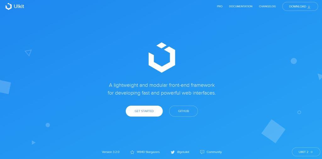 UIkit ligtweight css grid framework