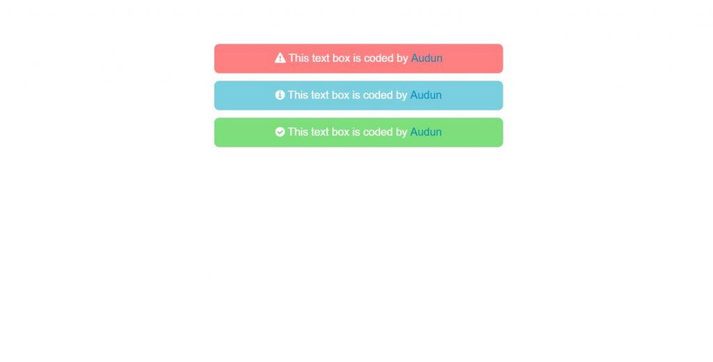 Warning, Info and Error CSS