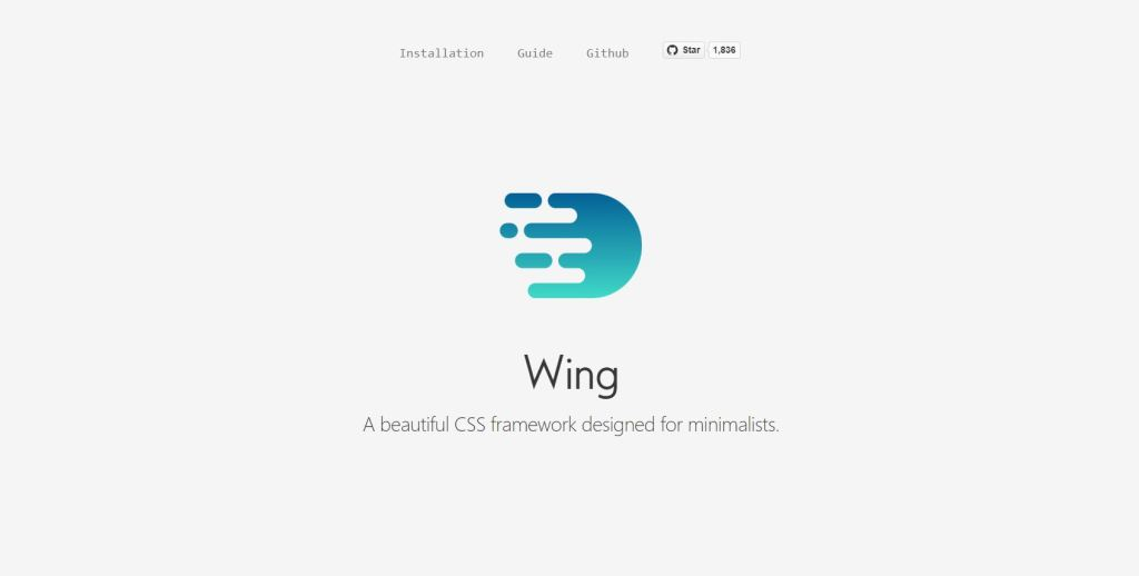 Wing light css frameworks frontend