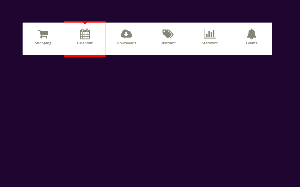 Bootstrap Horizontal Menu with icon and indicator