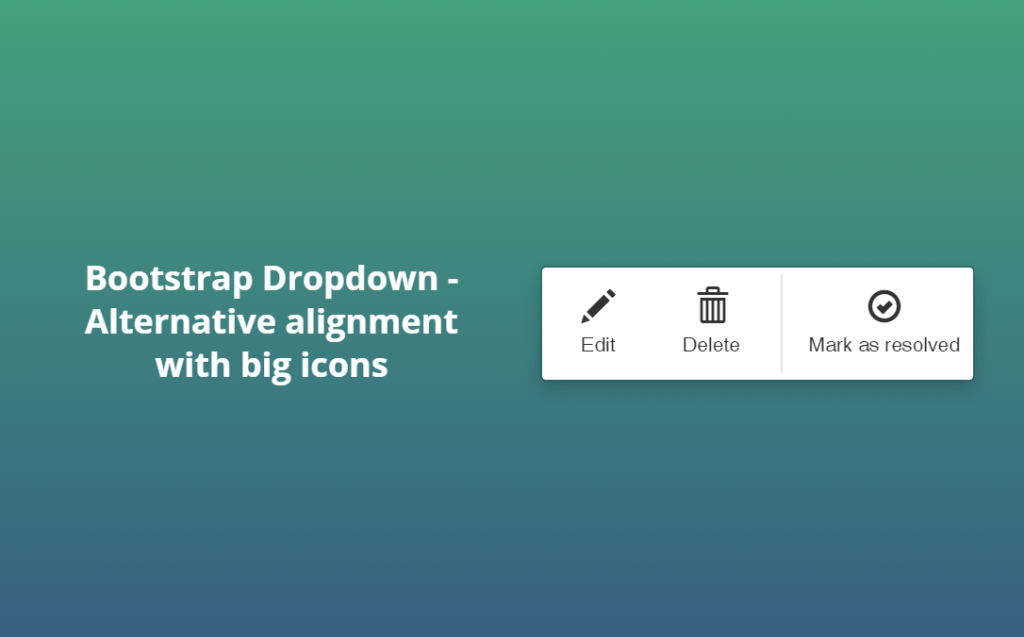 Bootstrap Horizontal Menu with icon