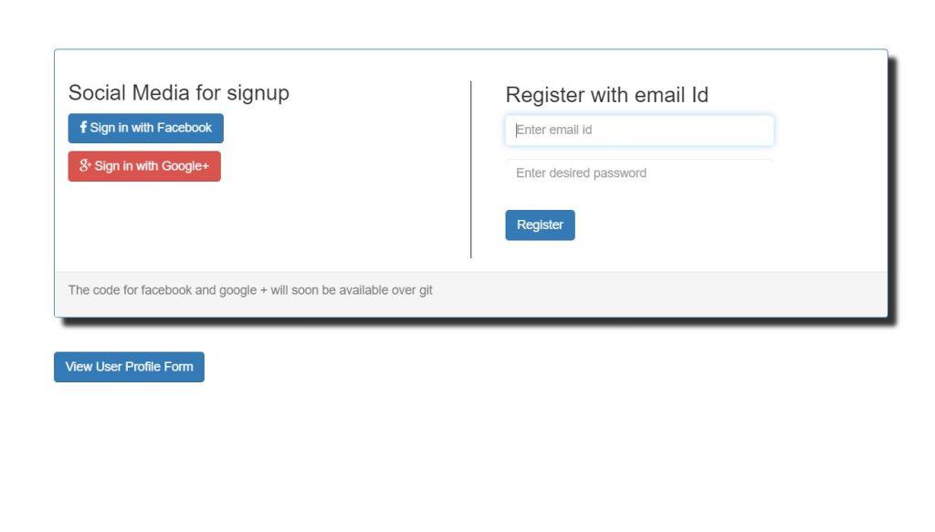Bootstrap Register Form