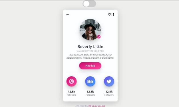 15+ CSS Profile Screen Design Examples