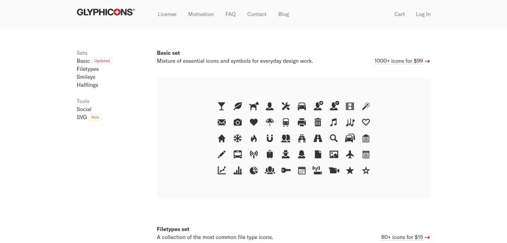 Bootstrap 4 glyphicons.com icons list