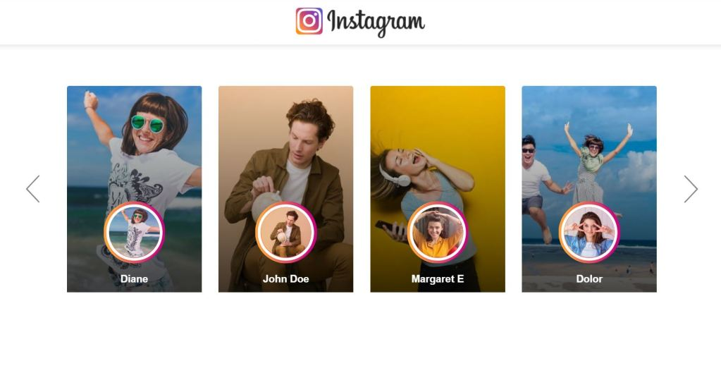 Instagram Style User Profile Cards