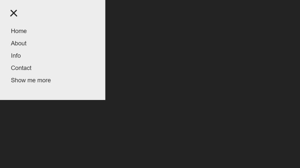 Bootstrap hamburger menu fold out icon