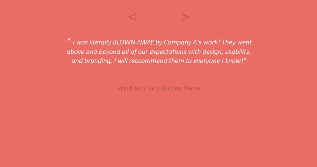 Simple jQuery Text Slider