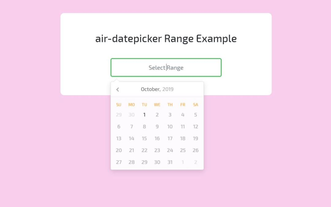 CSS Datepicker Awesome Examples