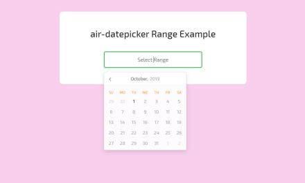 15 CSS Datepicker Awesome Examples Code Snippet