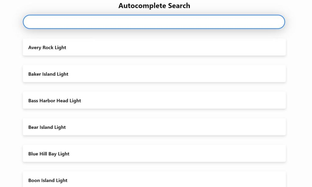 Bootstrap 4 autocomplete search