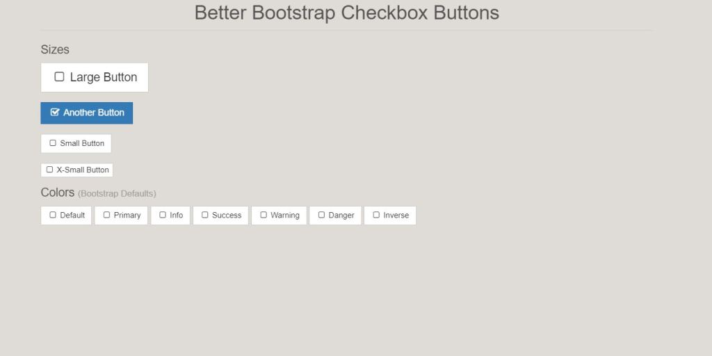 better checkbox buttons