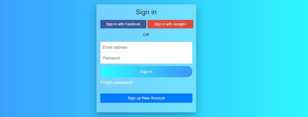 Login and Signup Page Design examples