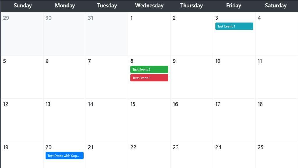 Responsive Bootstrap calendar
