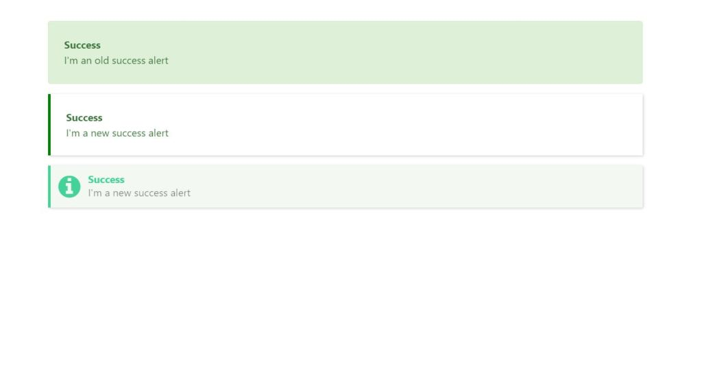 Bootstrap alert/message box tests example