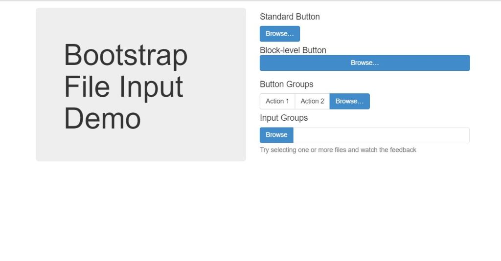 bootstrap file input upload