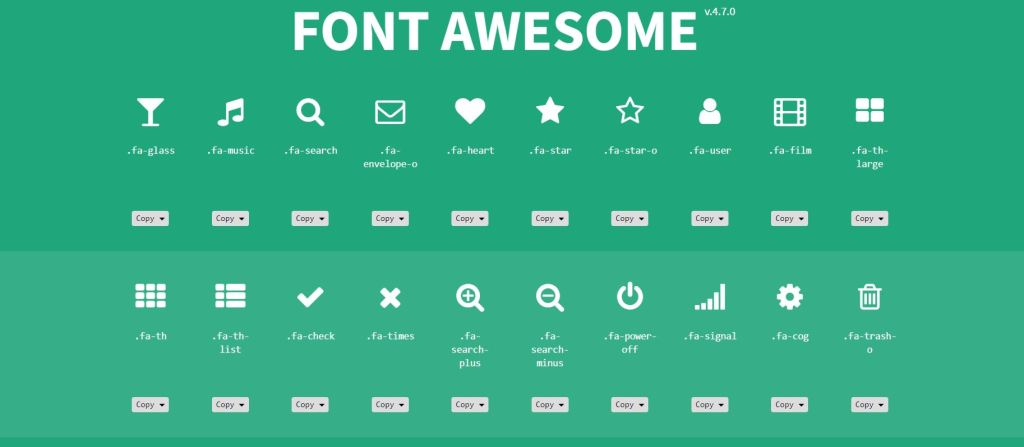 Bootstrap icon Font Awesome