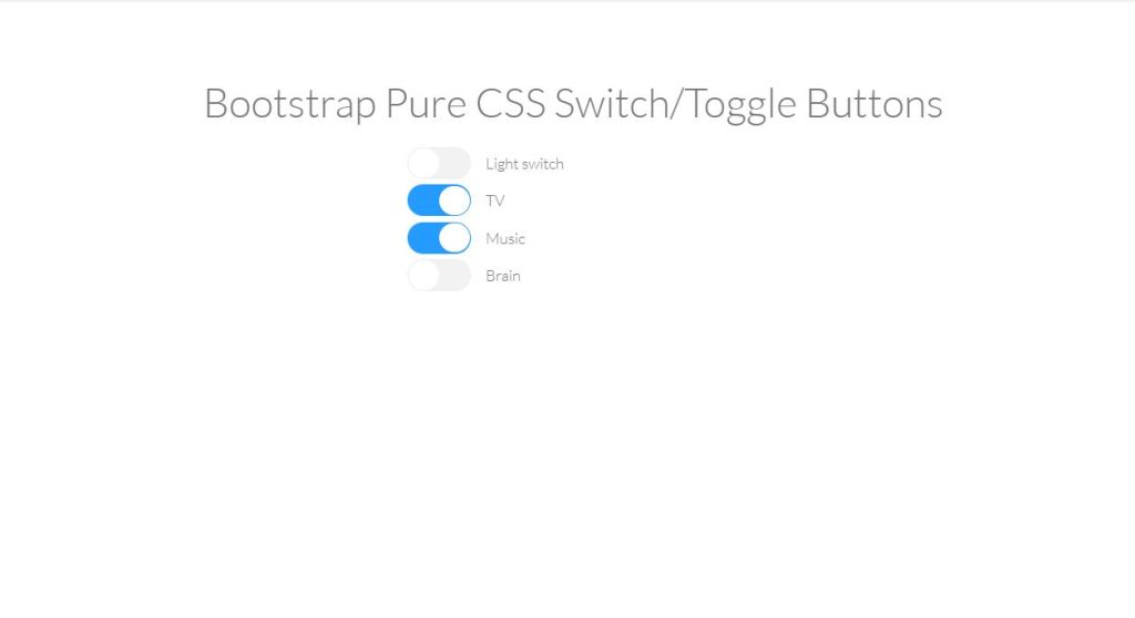 pure css toggle switch