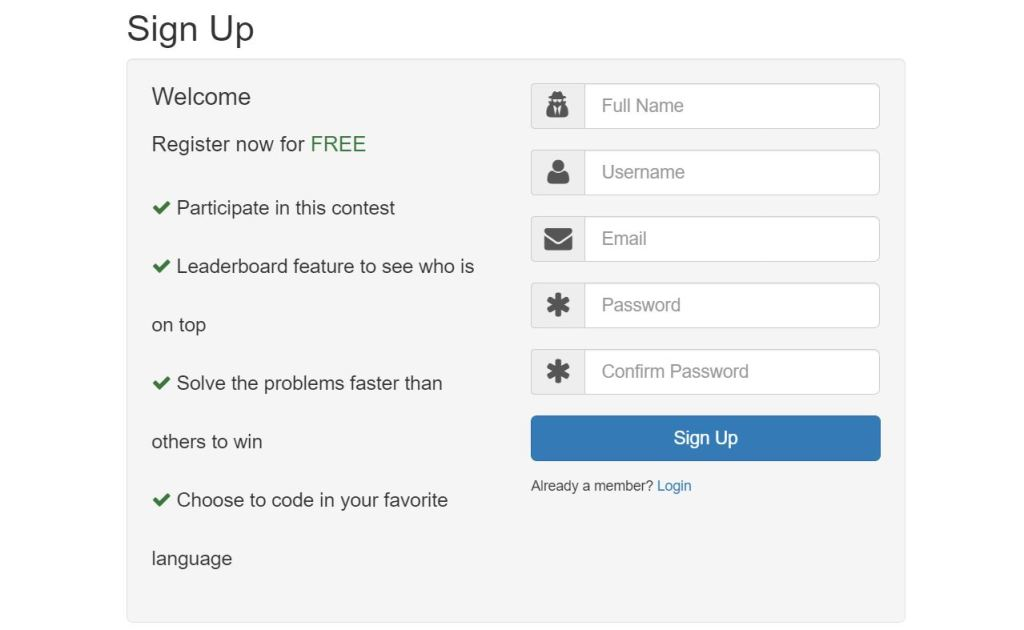 Bootstrap registration form example