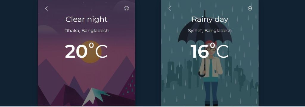 weather bootstrap card design examples