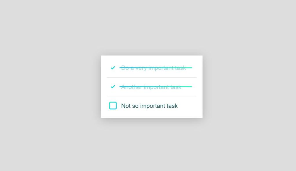 to do list animation