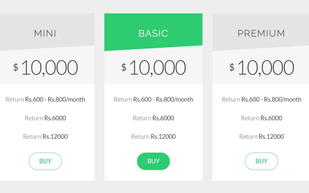 Bootstrap Pricing Table Examples Code Snippet