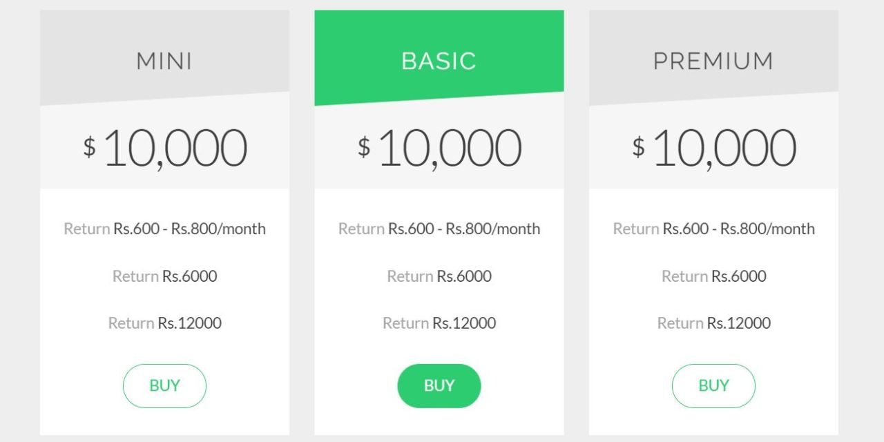 17+ Bootstrap Pricing Table Examples Code Snippet