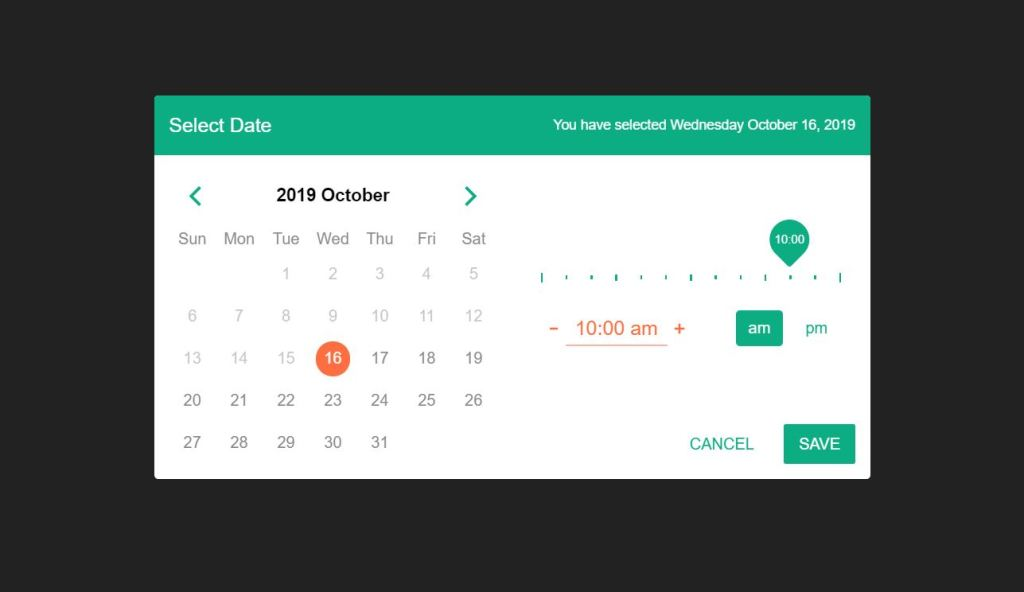 Bootstrap 4 date and Time picker code examples