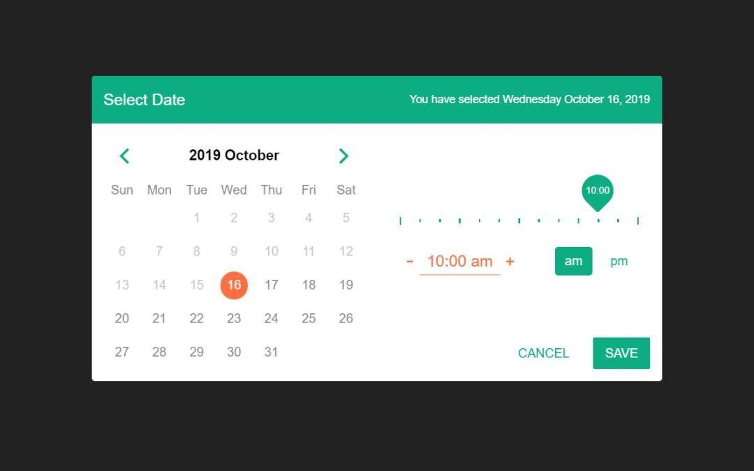 18+ JavaScript Datepicker Design Code Examples